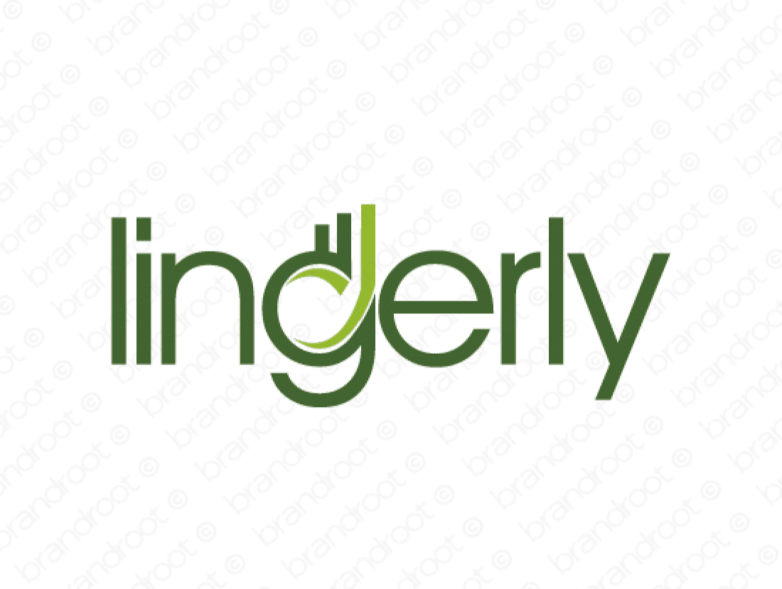 Lingerly logo design included with business name and domain name, Lingerly.com.