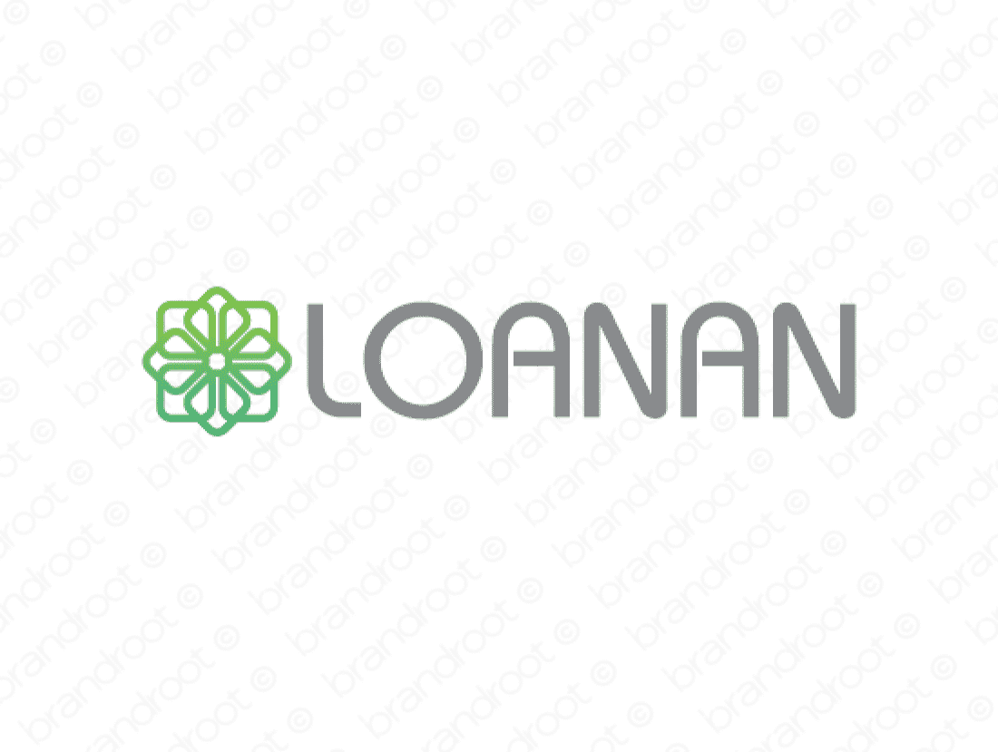 Loanan logo design included with business name and domain name, Loanan.com.