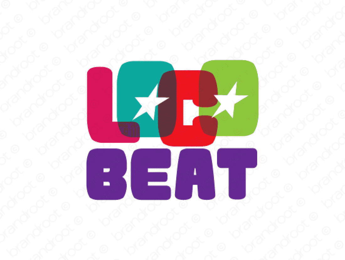 Locobeat logo design included with business name and domain name, Locobeat.com.