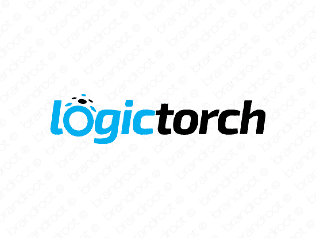 Logictorch logo design included with business name and domain name, Logictorch.com.