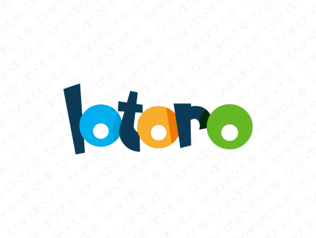 Lotoro logo design included with business name and domain name, Lotoro.com.