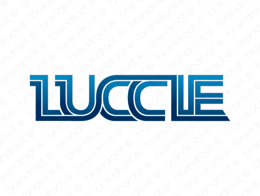 Luccie logo design included with business name and domain name, Luccie.com.