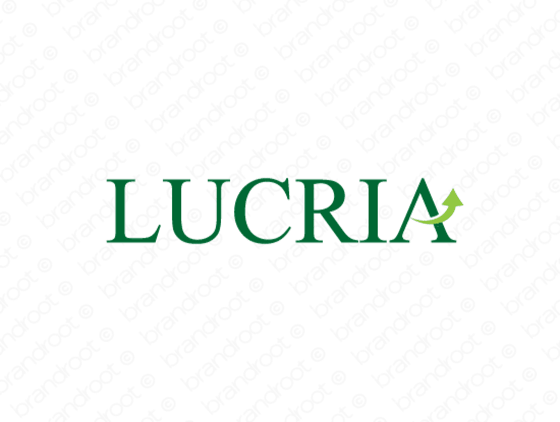 Lucria logo design included with business name and domain name, Lucria.com.