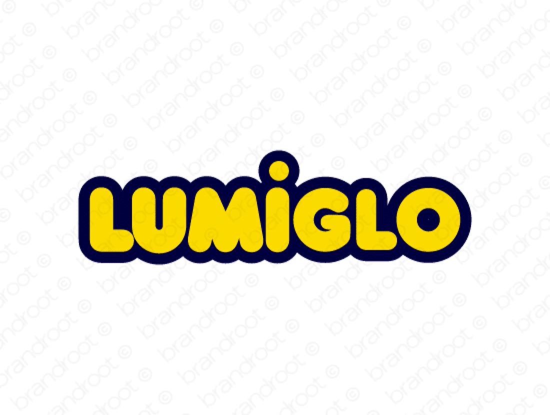 Lumiglo logo design included with business name and domain name, Lumiglo.com.