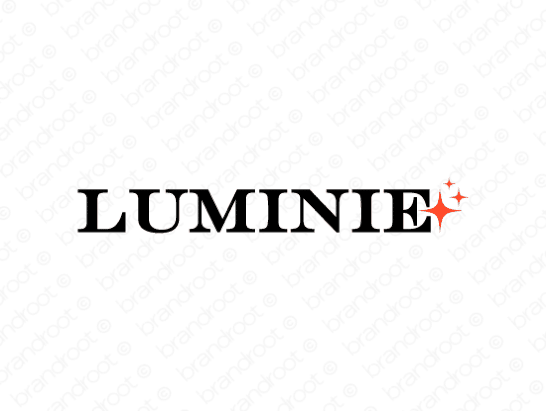 Luminie logo design included with business name and domain name, Luminie.com.