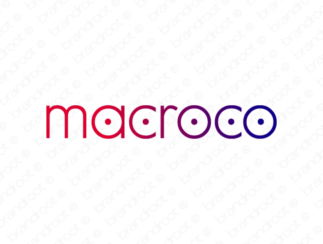 Macroco logo design included with business name and domain name, Macroco.com.