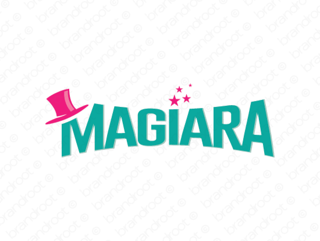 Magiara logo design included with business name and domain name, Magiara.com.