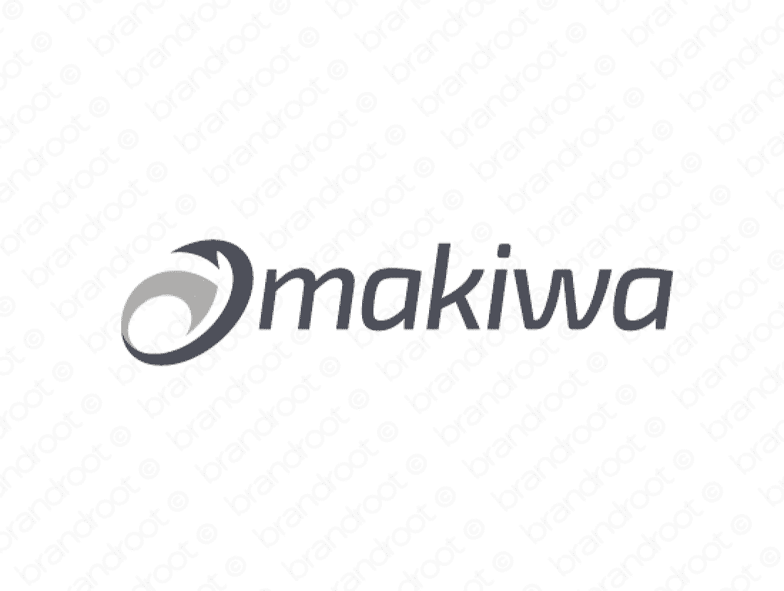 Makiwa logo design included with business name and domain name, Makiwa.com.