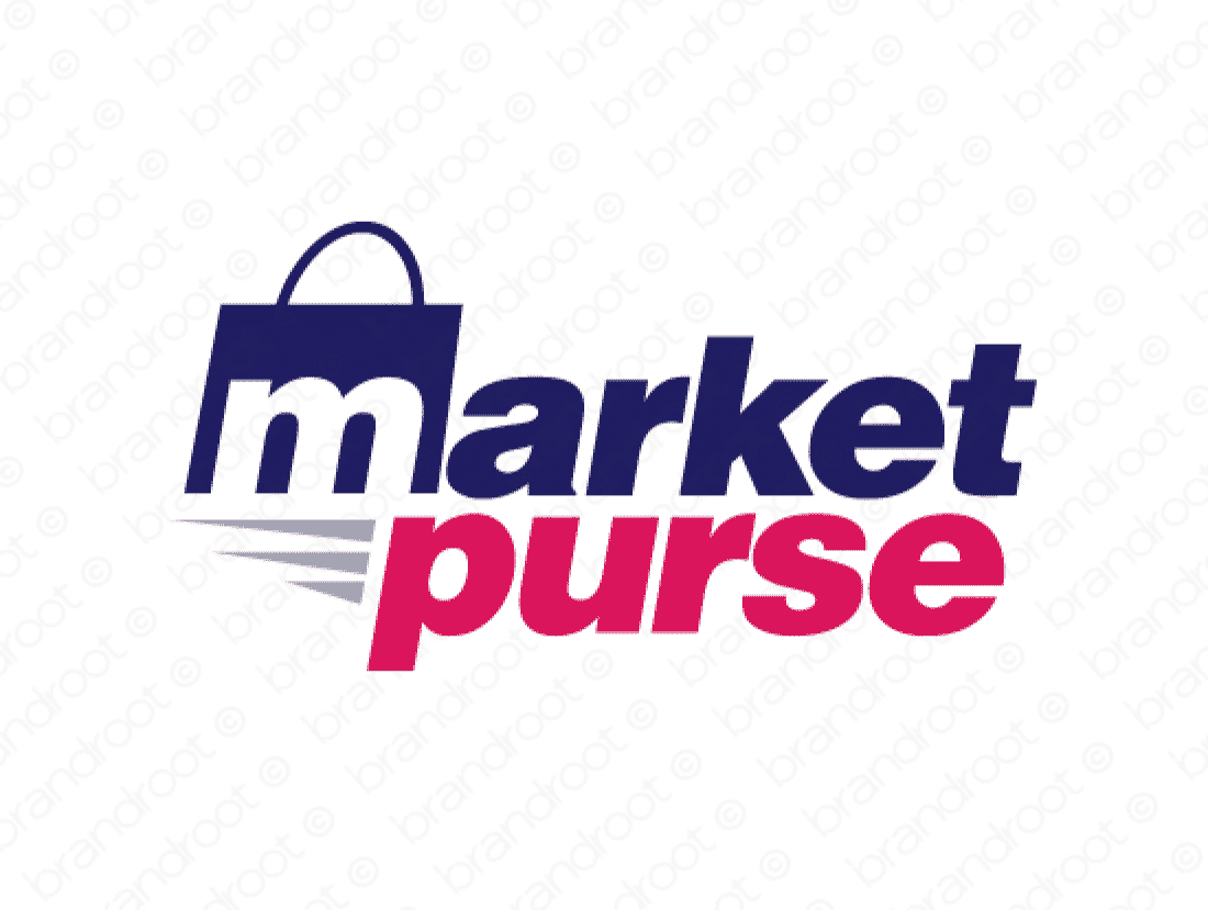 Marketpurse logo design included with business name and domain name, Marketpurse.com.