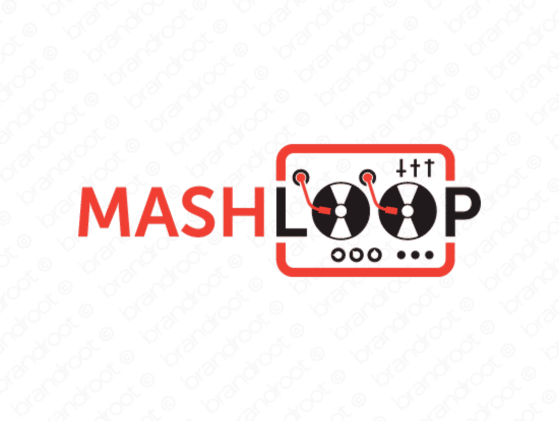 Mashloop logo design included with business name and domain name, Mashloop.com.