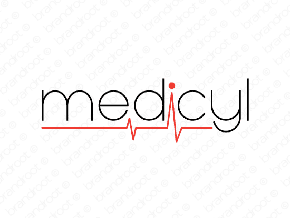 Medicyl logo design included with business name and domain name, Medicyl.com.
