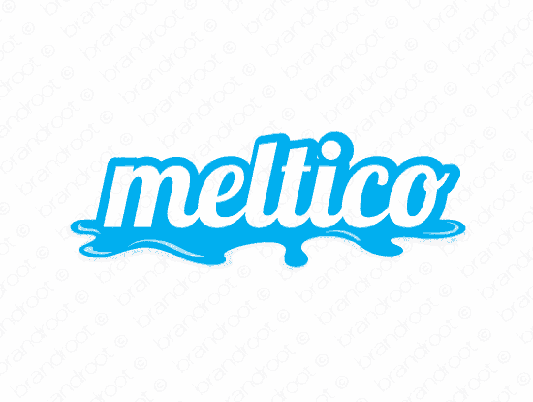 Meltico logo design included with business name and domain name, Meltico.com.
