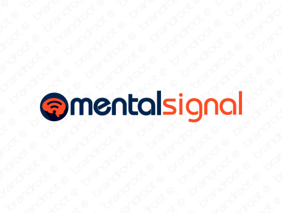 Mentalsignal logo design included with business name and domain name, Mentalsignal.com.