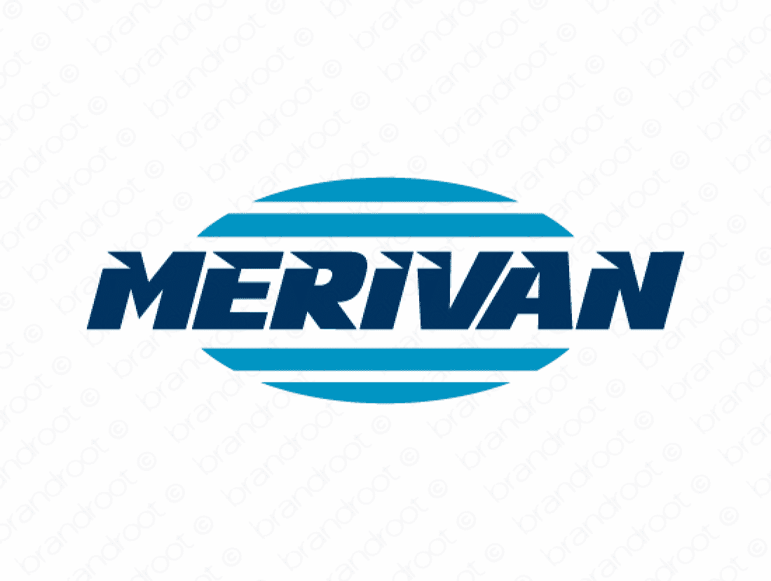 Merivan logo design included with business name and domain name, Merivan.com.