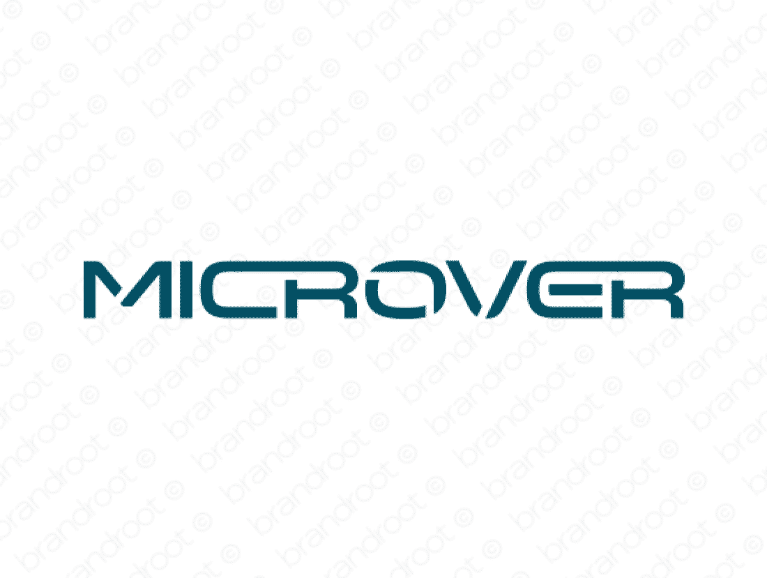 Microver logo design included with business name and domain name, Microver.com.