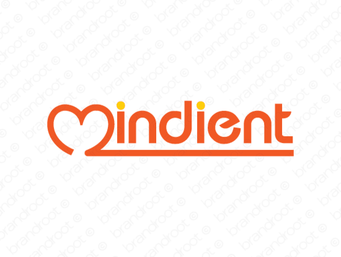 Mindient logo design included with business name and domain name, Mindient.com.