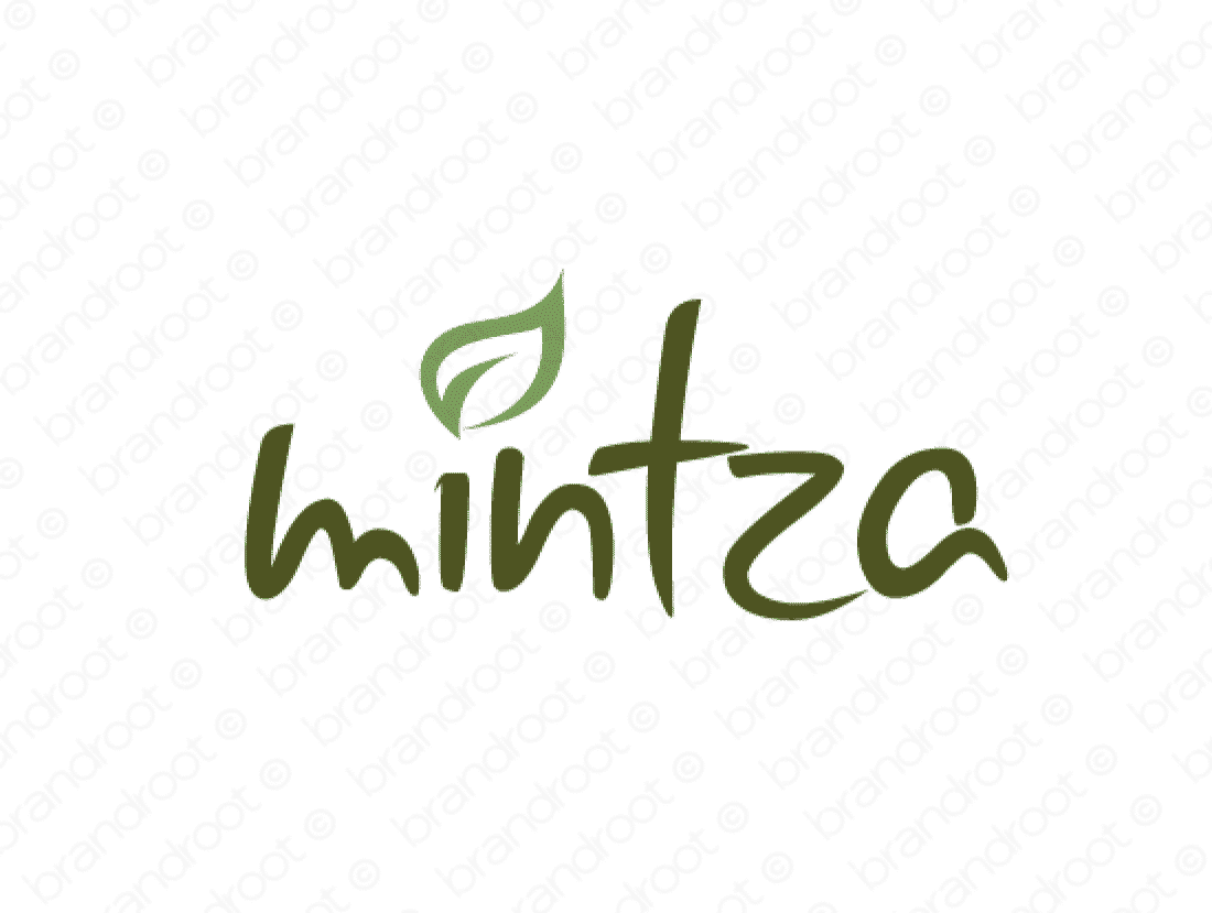 Mintza logo design included with business name and domain name, Mintza.com.