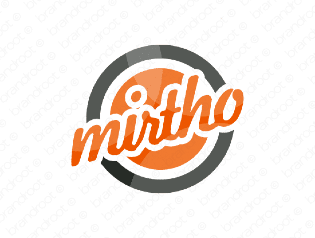 Mirtho logo design included with business name and domain name, Mirtho.com.