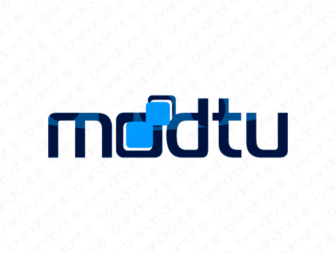 Modtu logo design included with business name and domain name, Modtu.com.
