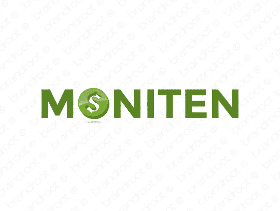 Moniten logo design included with business name and domain name, Moniten.com.