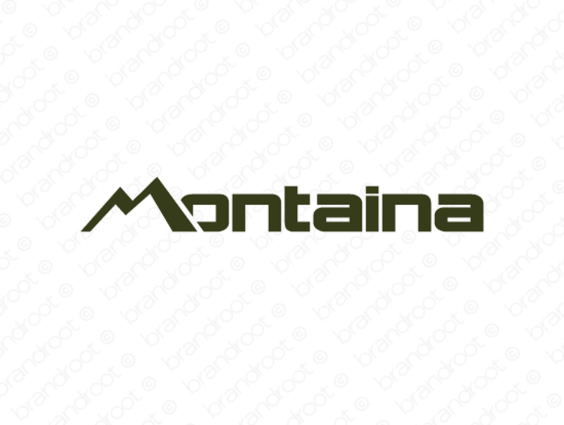 Montaina logo design included with business name and domain name, Montaina.com.