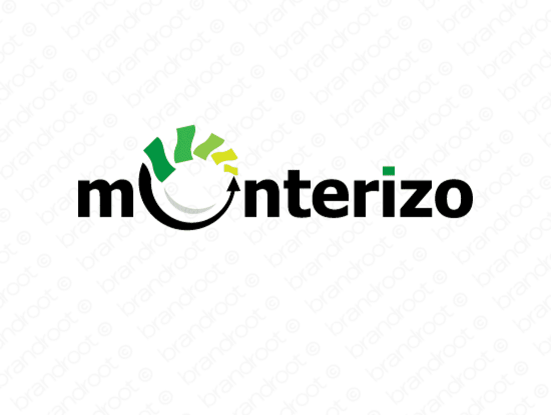 Monterizo logo design included with business name and domain name, Monterizo.com.