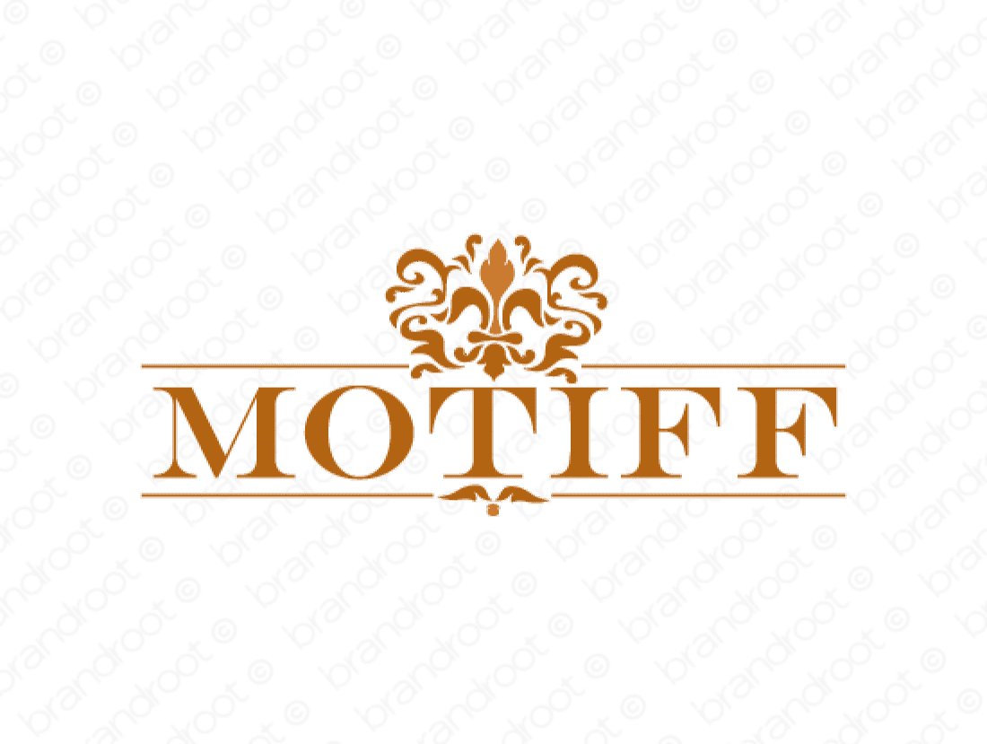 Motiff logo design included with business name and domain name, Motiff.com.