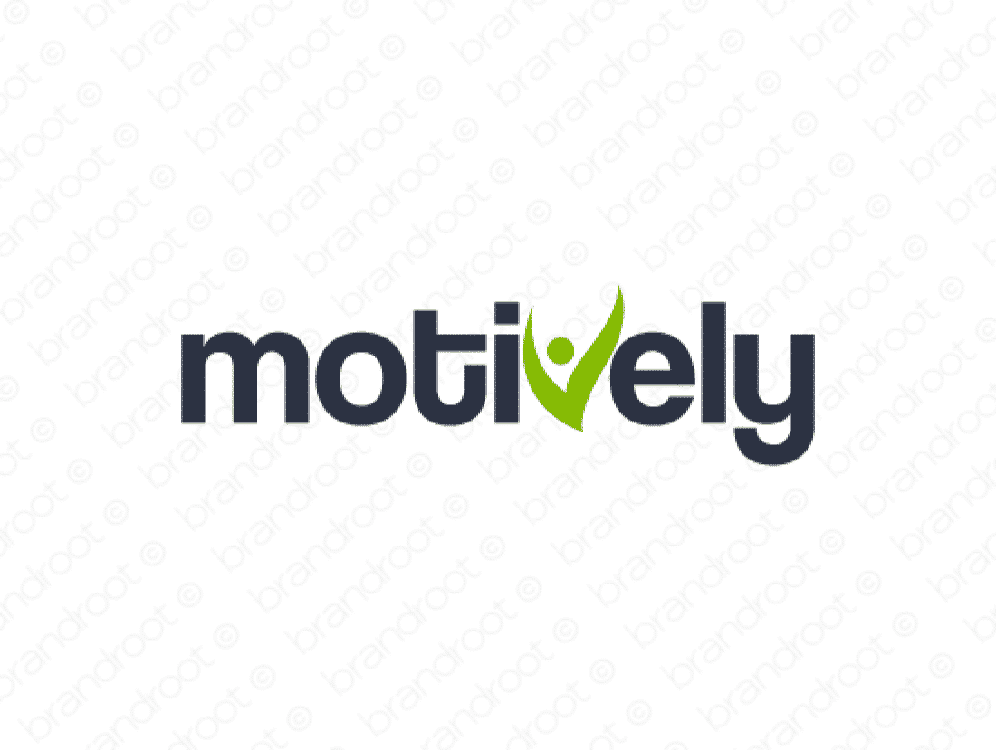 Motively logo design included with business name and domain name, Motively.com.