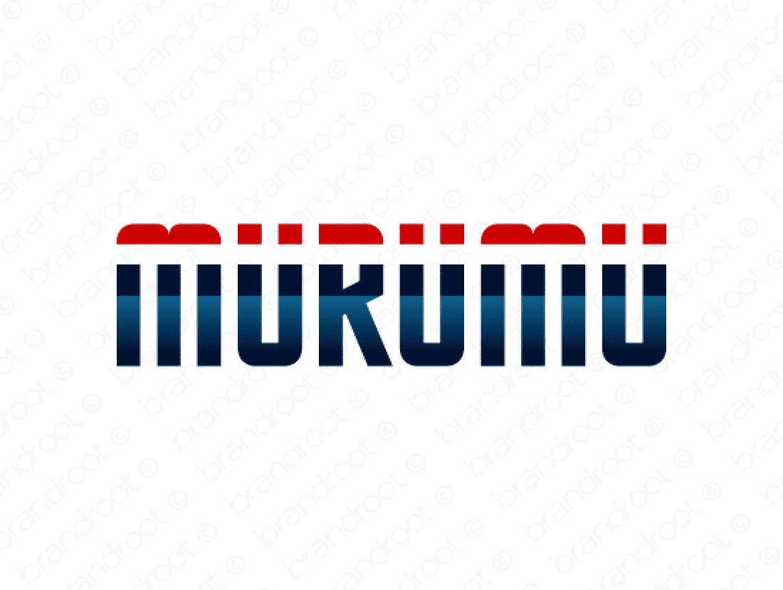 Murumu logo design included with business name and domain name, Murumu.com.