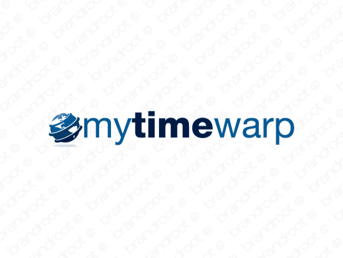 Mytimewarp logo design included with business name and domain name, Mytimewarp.com.