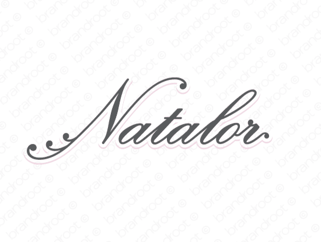 Natalor logo design included with business name and domain name, Natalor.com.