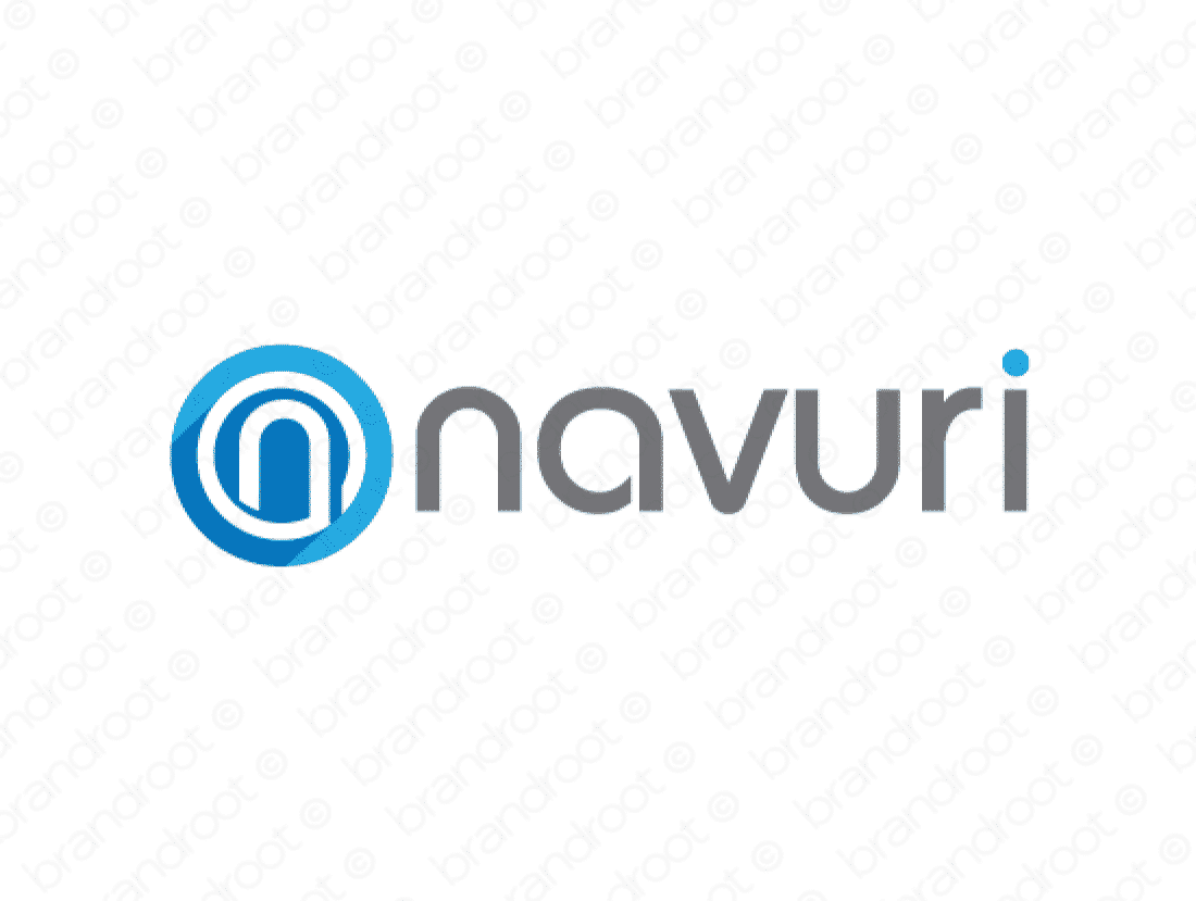 Navuri logo design included with business name and domain name, Navuri.com.