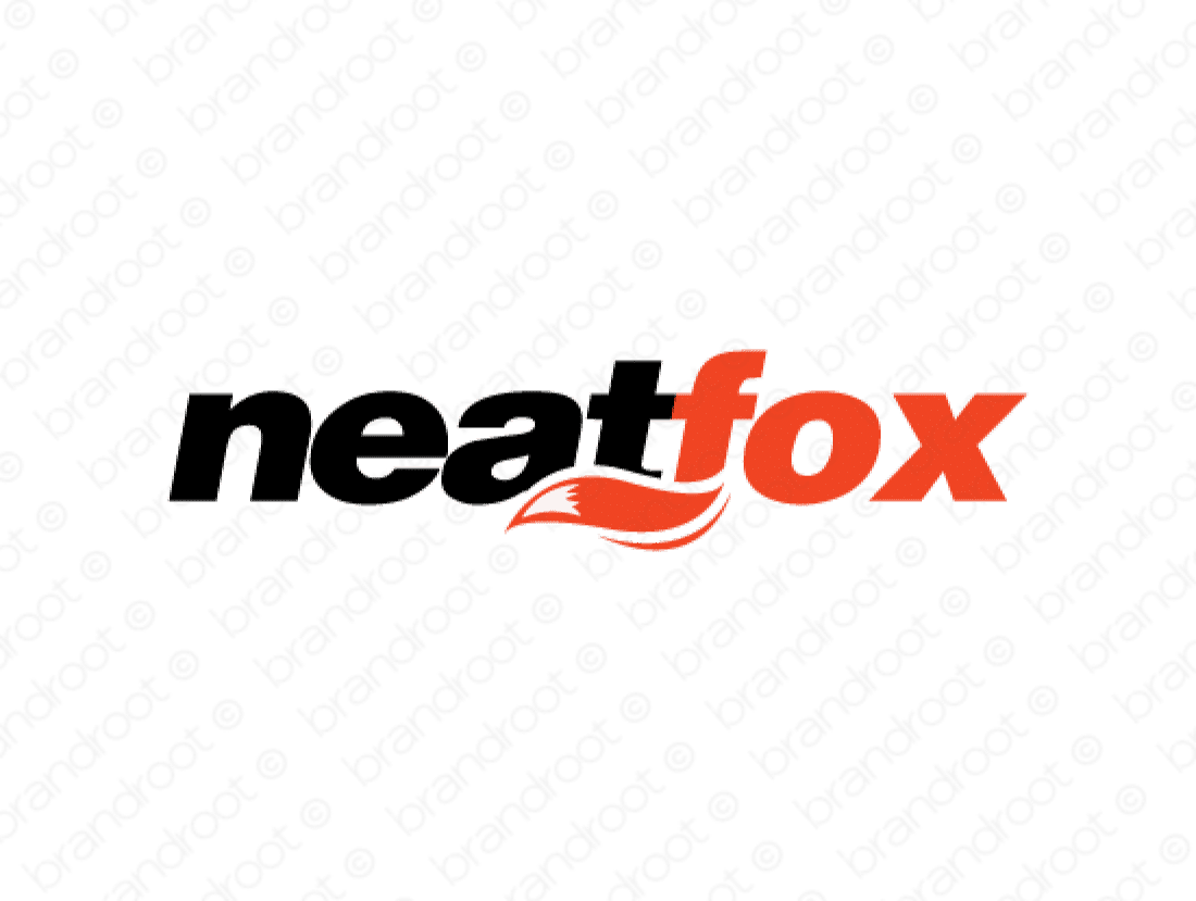 Neatfox logo design included with business name and domain name, Neatfox.com.