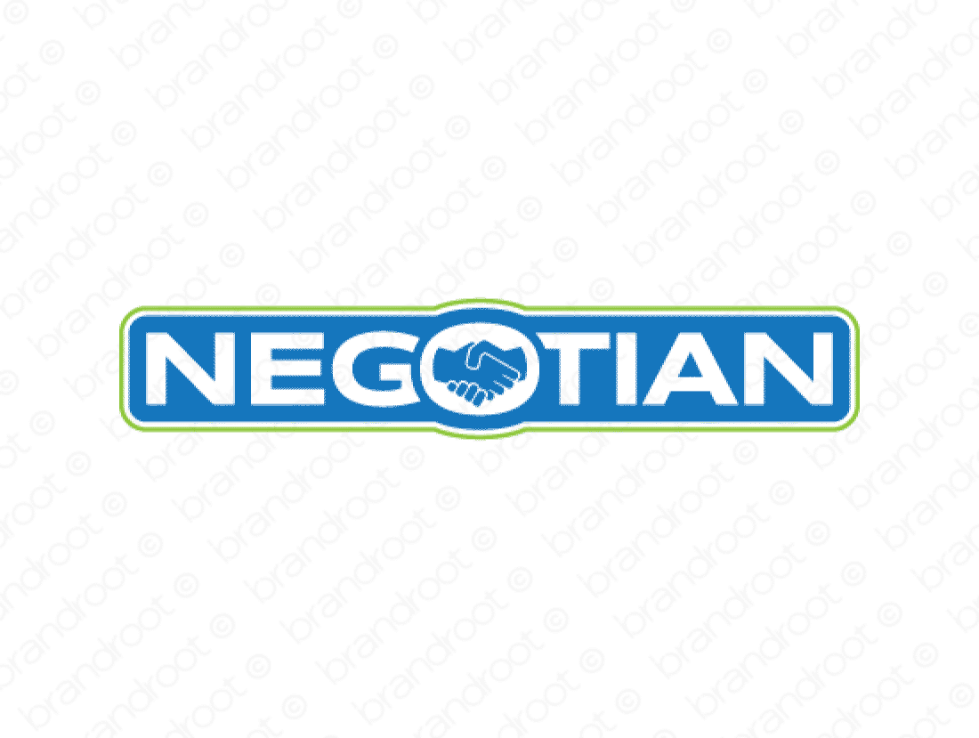 Negotian logo design included with business name and domain name, Negotian.com.