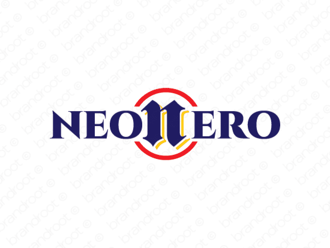 Neonero logo design included with business name and domain name, Neonero.com.