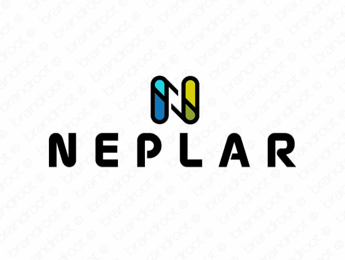 Neplar logo design included with business name and domain name, Neplar.com.
