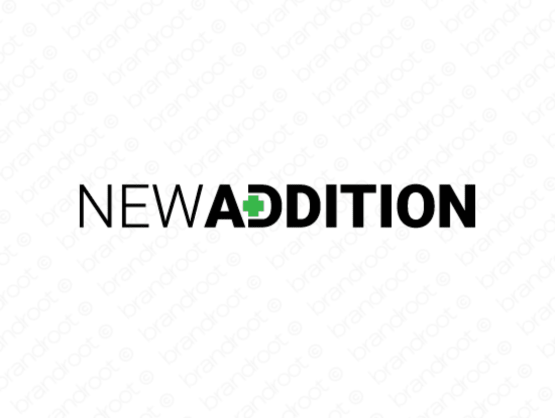 Newaddition logo design included with business name and domain name, Newaddition.com.