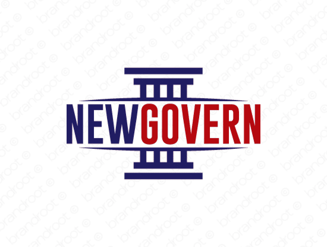 Newgovern logo design included with business name and domain name, Newgovern.com.