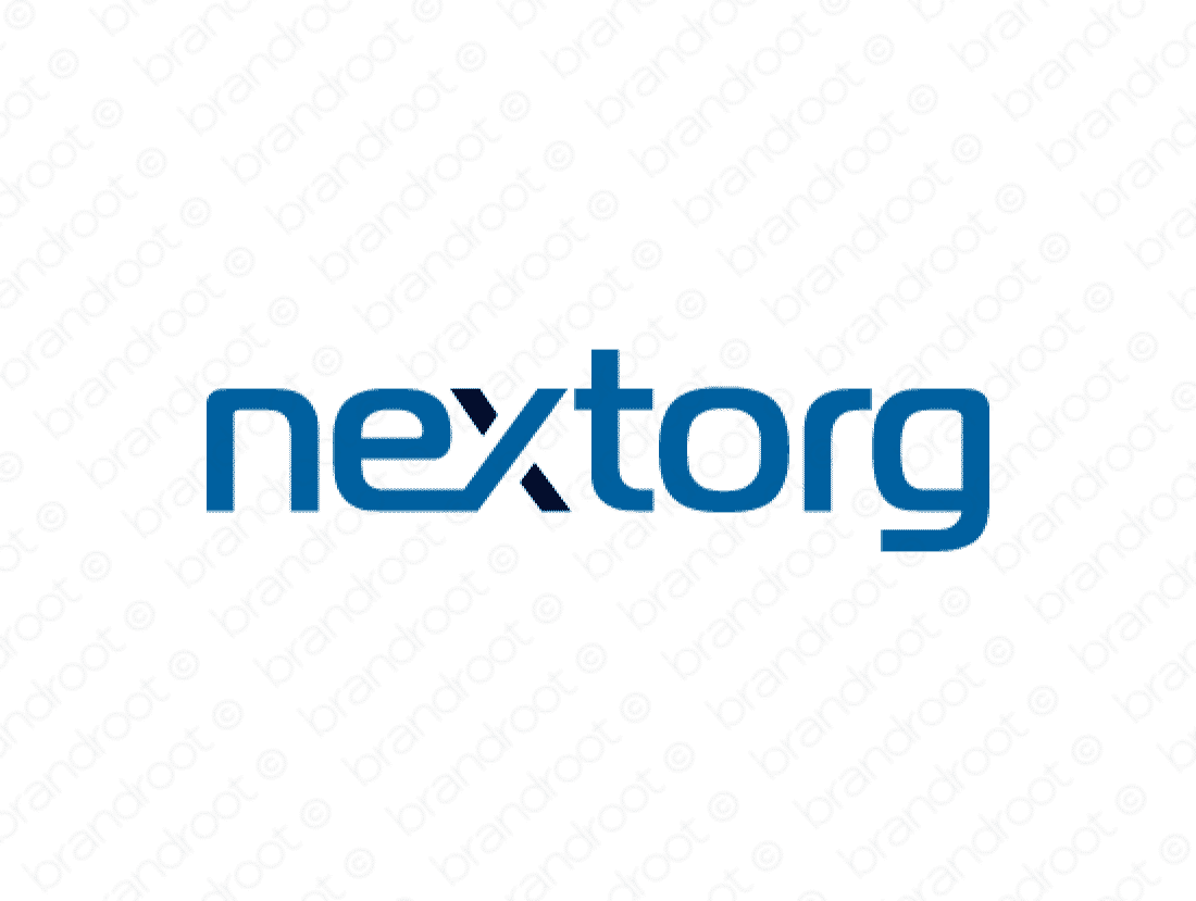 Nextorg logo design included with business name and domain name, Nextorg.com.