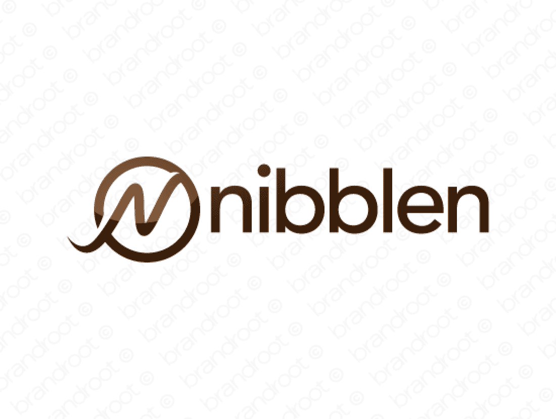Nibblen logo design included with business name and domain name, Nibblen.com.