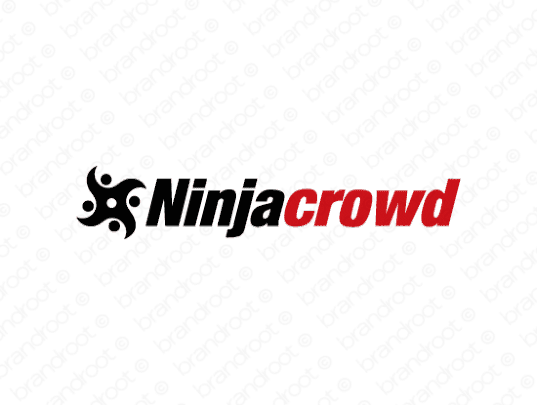 Ninjacrowd logo design included with business name and domain name, Ninjacrowd.com.