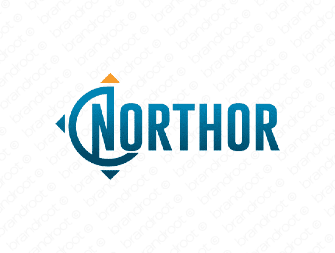 Northor logo design included with business name and domain name, Northor.com.