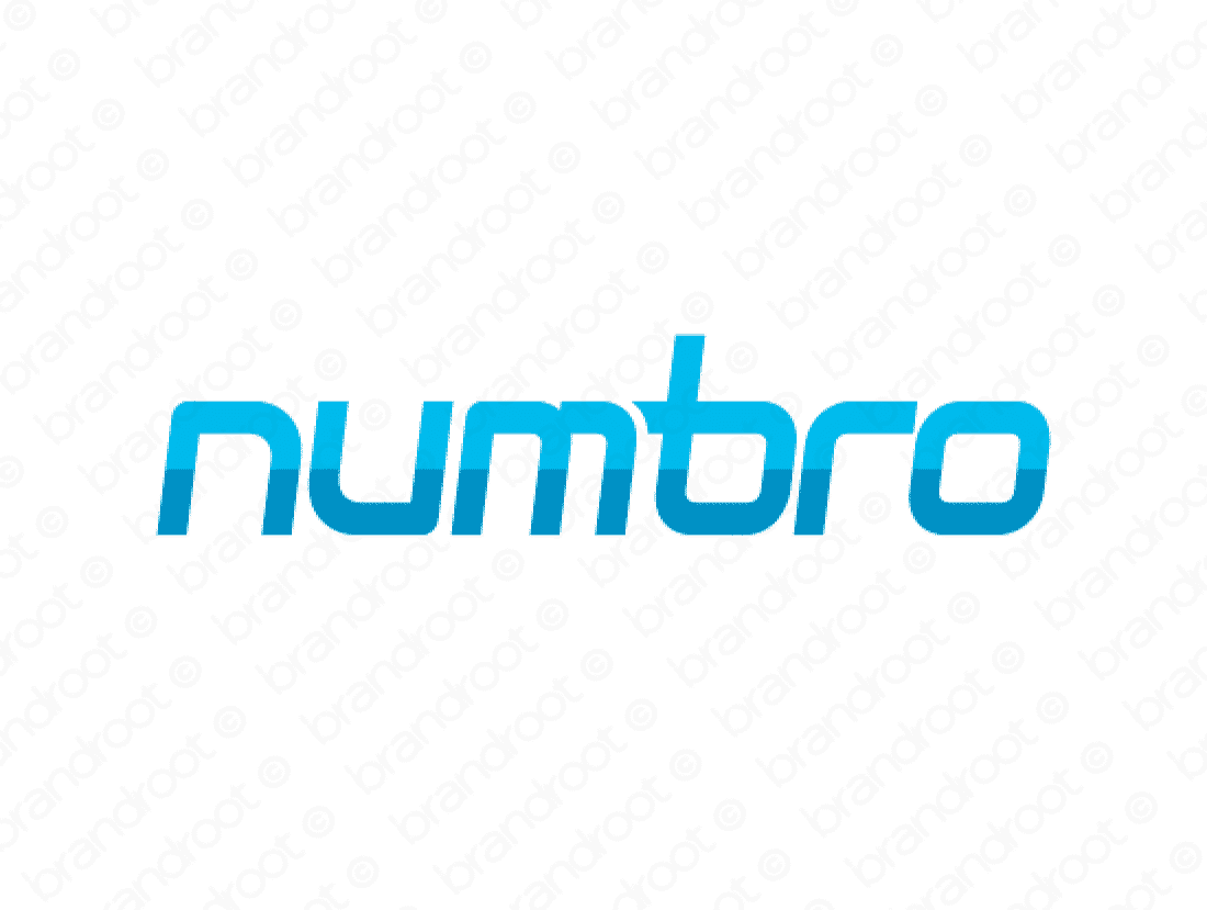 Numbro logo design included with business name and domain name, Numbro.com.