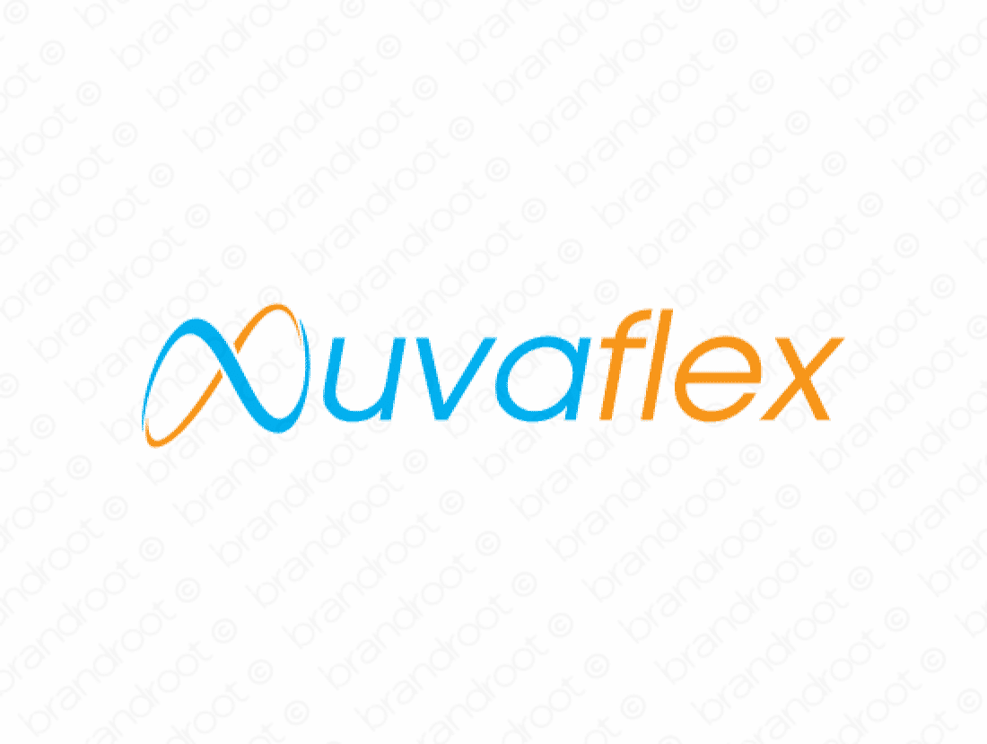 Nuvaflex logo design included with business name and domain name, Nuvaflex.com.