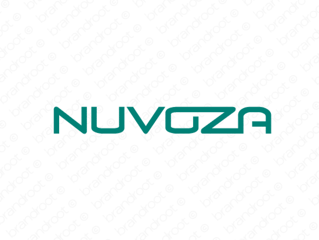 Nuvoza logo design included with business name and domain name, Nuvoza.com.