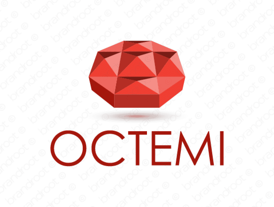 Octemi logo design included with business name and domain name, Octemi.com.