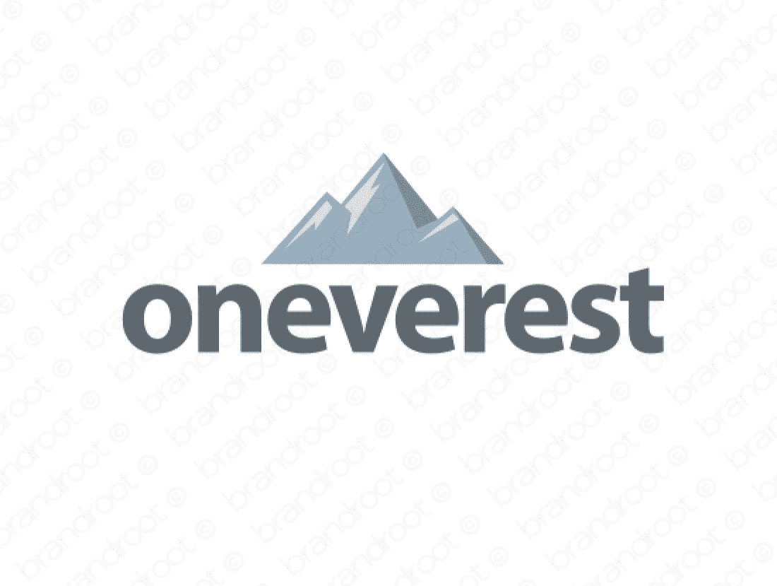 Oneverest logo design included with business name and domain name, Oneverest.com.
