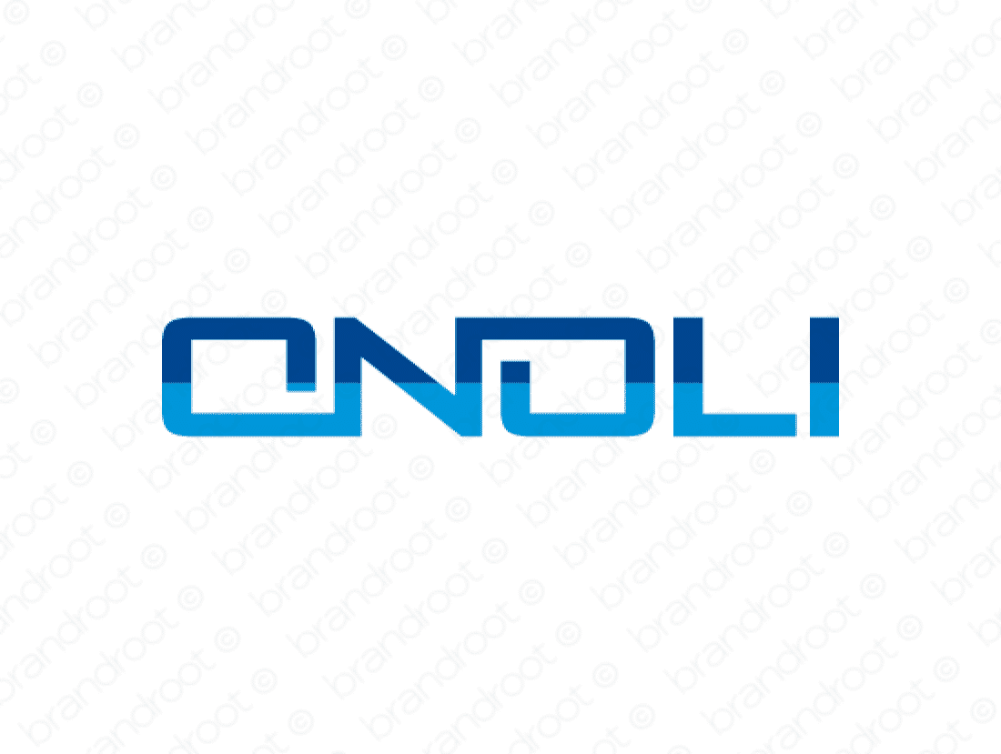 Onoli logo design included with business name and domain name, Onoli.com.
