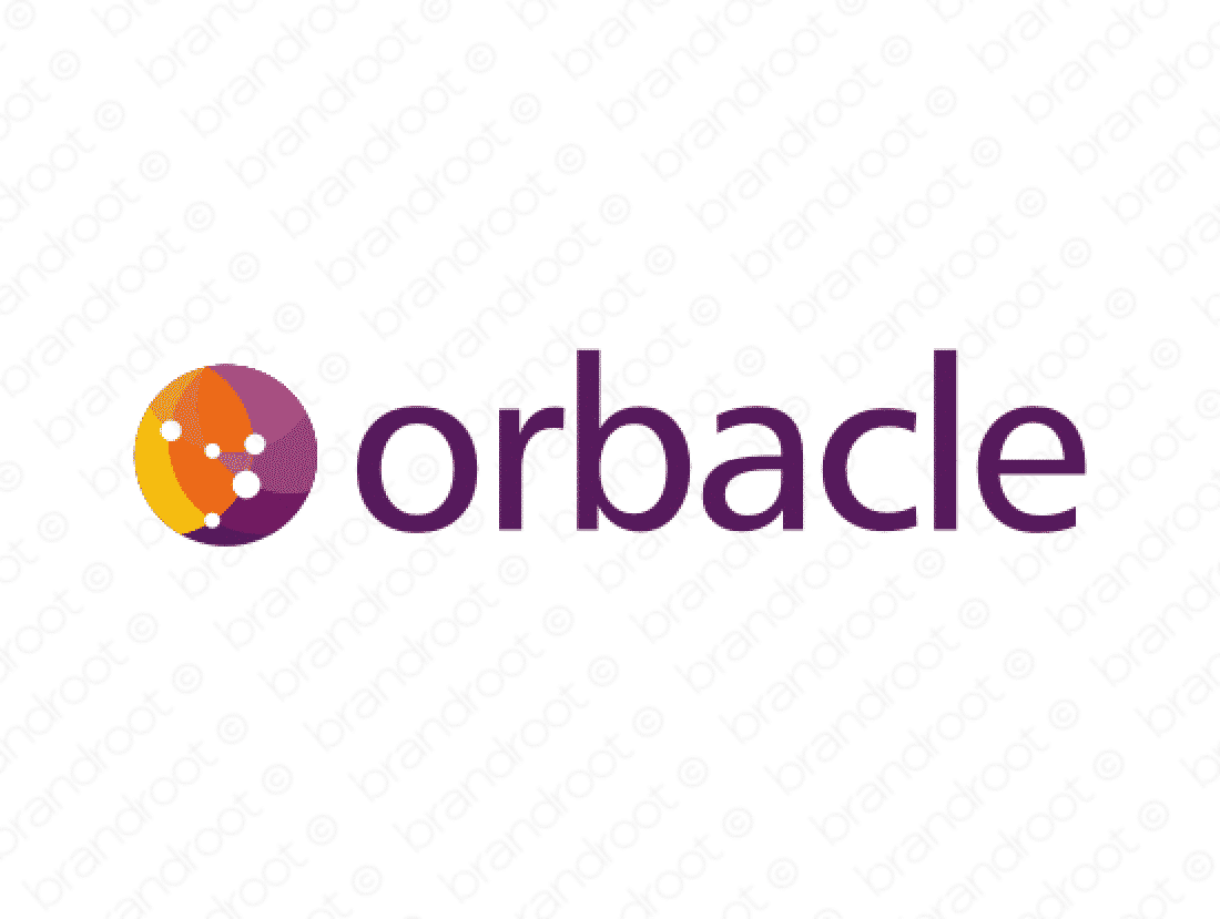 Orbacle logo design included with business name and domain name, Orbacle.com.