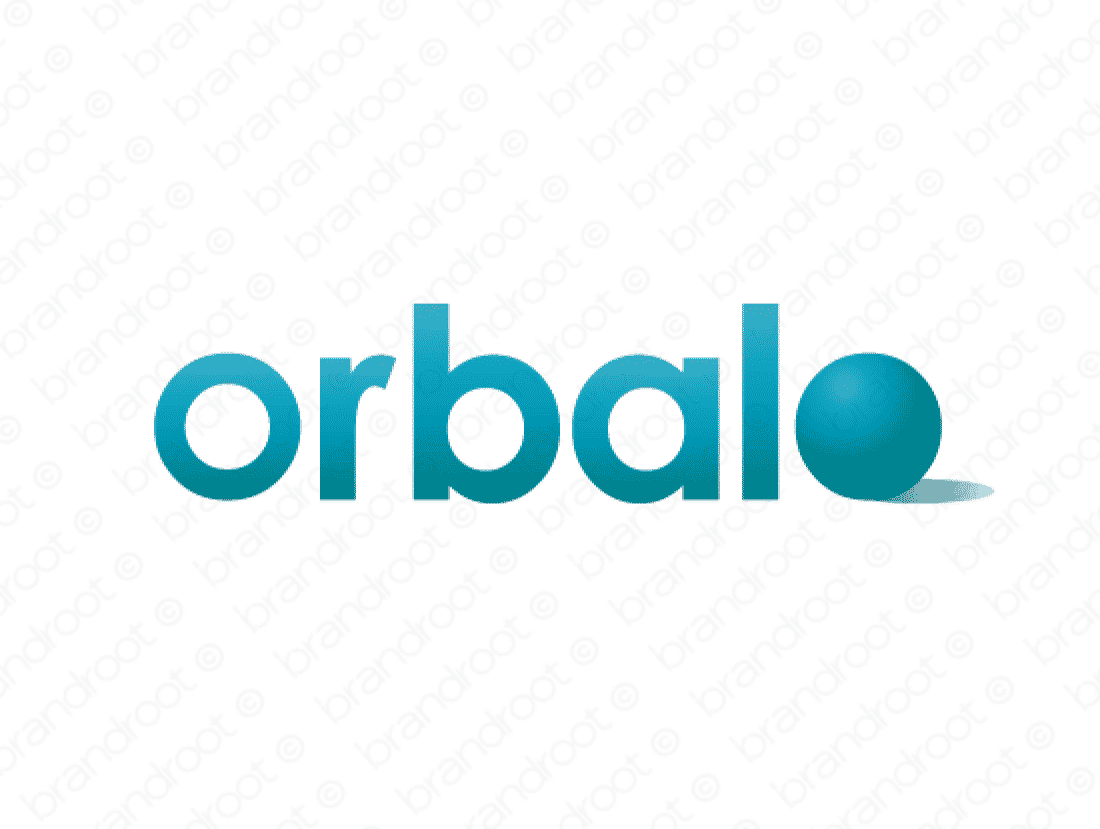 Orbalo logo design included with business name and domain name, Orbalo.com.